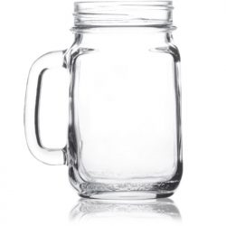 Mason Jar with handle large