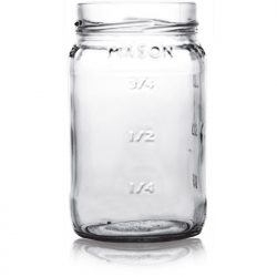 Mason Jar with measurements